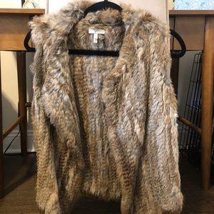 Joie rabbit fur drape vest